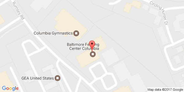 Baltimore Fencing Center Columbia Maryland Sports - Baltimore on us map